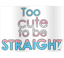Too cute to be straight - transexual Poster