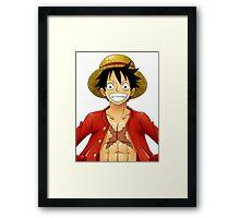 One piece - Luffy Framed Print