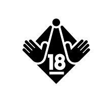 R18 / XXX / Adults Only logo - Black by hardravesydney