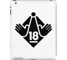 R18 / XXX / Adults Only logo - Black iPad Case/Skin