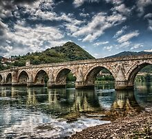 Bridge on Drina by Dobromir Dobrinov