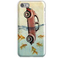 VW beetle and goldfish iPhone Case/Skin