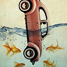 VW beatle and goldfish by vinpez