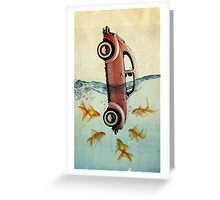 VW beetle and goldfish Greeting Card