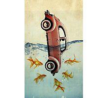VW beetle and goldfish Photographic Print