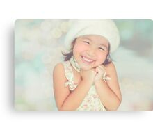 furry hat girl Canvas Print