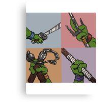 8-Bit Ninja Turtles Canvas Print
