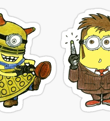 Minion Khan and The Doctor Sticker