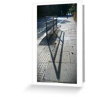 Street Shadows Greeting Card
