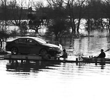 Floating Car Rescue Burrowbridge II by RedSteve