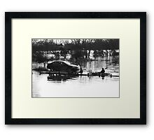 Floating Car Rescue Burrowbridge II Framed Print