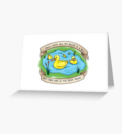 Ducks in the Same Pond Greeting Card