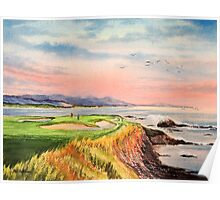 Pebble Beach Golf Course  Poster