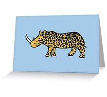 Rhinocelot (Rhinoceros Ocelot) Greeting Card