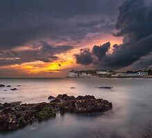 Storm At Freshwater Bay by manateevoyager