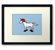 Roller Derby Unicorn Framed Print