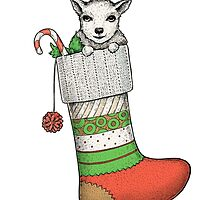 Christmas goat by Eugenia Hauss