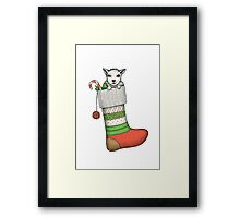 Christmas goat Framed Print
