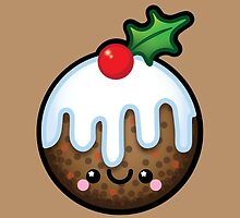 Cute Kawaii Christmas Pudding by Ladypixelle
