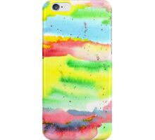 Watercolor Hand-Painted Abstract Red Yellow Green Blue iPhone Case/Skin