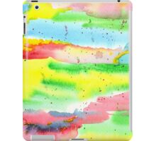 Watercolor Hand-Painted Abstract Red Yellow Green Blue iPad Case/Skin
