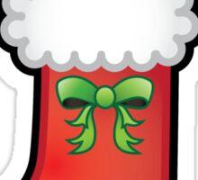 Cute Kawaii Christmas Stocking Sticker