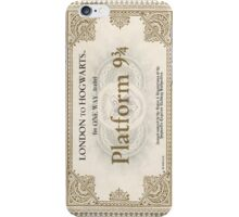 ticket to hogwarts iPhone Case/Skin
