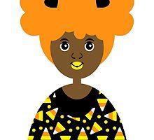 Girl 18 - Candy Corn Halloween by TabithaBianca