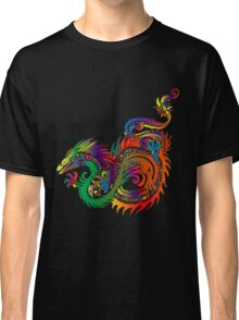 Colorful Rainbow Tattoo Style Dragon Design Classic T-Shirt