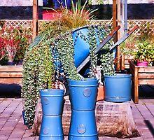 Garden Shop Stilllife in Blue by Eileen McVey