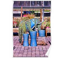 Garden Shop Stilllife in Blue Poster