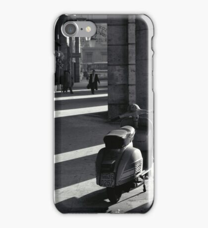 Scooter in Rome iPhone Case/Skin