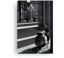 Scooter in Rome Canvas Print
