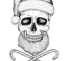 Christmas Skull by Eugenia Hauss