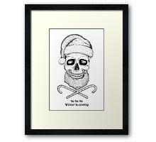 Christmas Skull Framed Print