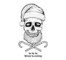 Christmas Skull Photographic Print