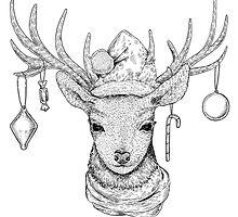 Christmas Deer by Eugenia Hauss