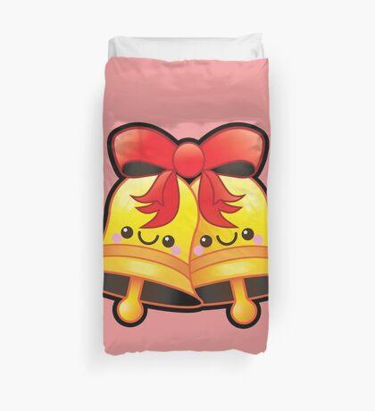 Cute Kawaii Christmas Jingle Bells Duvet Cover