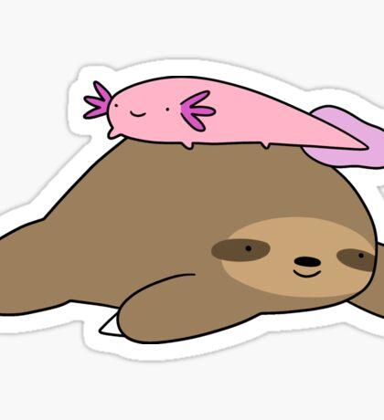 Axolotl and Sloth Sticker