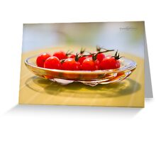 Tomatoes, Olive Oil and Balsamic Vinegar Greeting Card