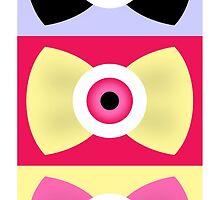 Creepy-Cute EyeBall Bows by Ninelyn
