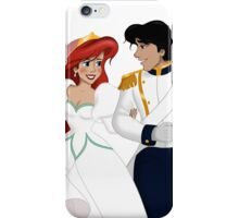 """The Little Mermaid - Ariel and Eric """"Just Married"""" iPhone Case/Skin"""