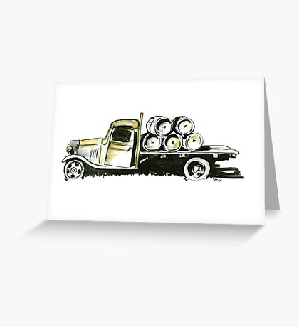 Old Farmers Truck Greeting Card