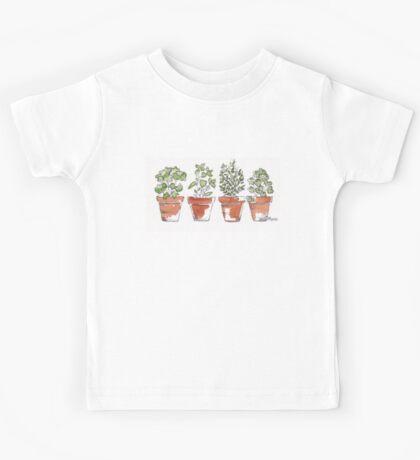 Herbs in pots Kids Tee