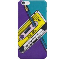 Kid 80s - Cassette Tape Rewind with Pen iPhone Case/Skin