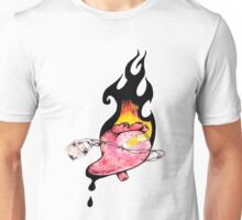 burning bleeding heart Unisex T-Shirt