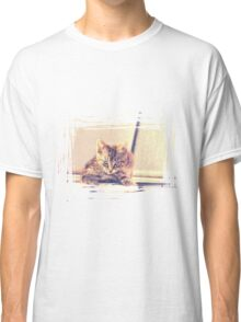 Retro Kitten Photo 3 Classic T-Shirt