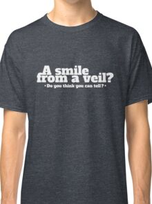 A Smile From A Veil - Pink Floyd Rock Lyrics Inspired Typography Classic T-Shirt