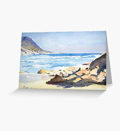Beach, South Africa Greeting Card