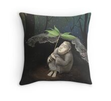 He shelters from the Rain Throw Pillow